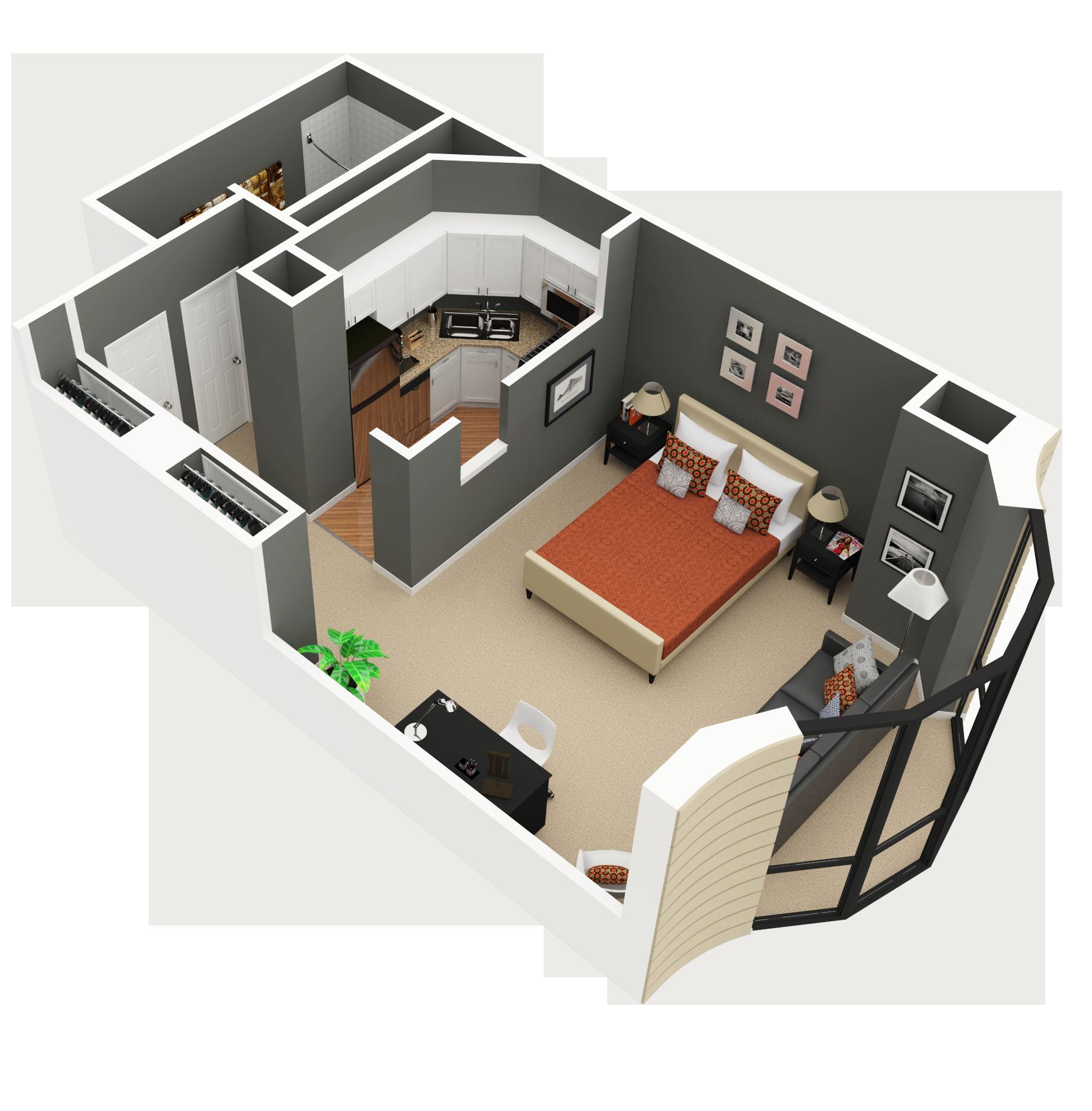 Studio 2 eugenie terrace for Studio floor plans